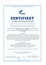 Certifikát<br>Natural Vitamins (cz) Suplement diety Siberian Super Natural Nutrition. Natural Vitamins