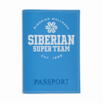 Okładka na paszport Siberian Super Team (kolor: błękitny)